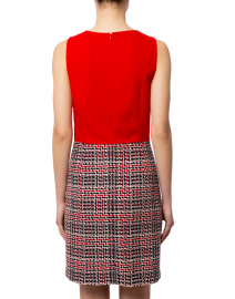 Paule Ka - Red Tweed Bottom Dress