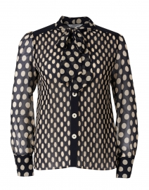 Cora Navy and White Polka Dot Blouse