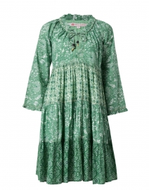 Sonia Emerald and White Floral Cotton Dress