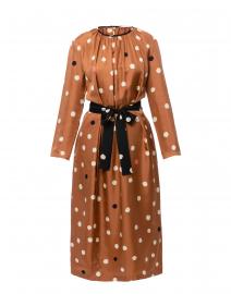 Ginger Painted Polka Dot Silk Dress
