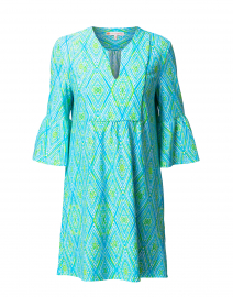 Kerry Turquoise Painted Diamond Printed Dress