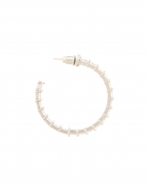 FALLON - Crystal Baguette Hoop Earrings