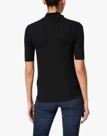Majestic Filatures - Black Soft Touch Mock Neck Top