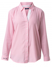 Marianna White and Pink Striped Cotton Shirt