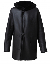 Melia Black Reversible Shearling Coat