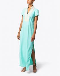 Sail to Sable - Mint Stretch Linen Maxi Tunic Dress