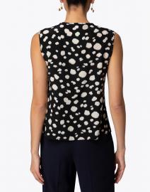 Aspesi - Black and White Animal Print Silk Top