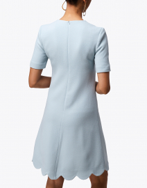 Goat - Jolie Frost Blue Scallop Hem Dress