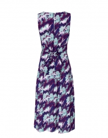 Santorelli - Dori Purple and Blue Abstract Floral Dress
