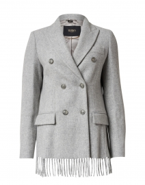 Grey Mixed Wool Cloth Blazer