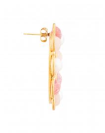 Sylvia Toledano - Daisy Pink Quartz and Pearl Circle Stud Earrings