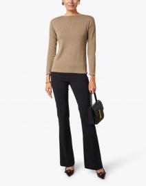 Blue - Dark Natural Pima Cotton Boatneck Sweater