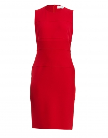 Dacriba Red Stretch Sheath Dress