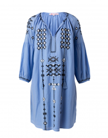 Gisella Blue Embroidered Dress