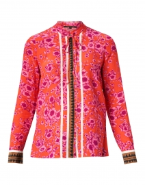 Lena Printed Silk Blouse