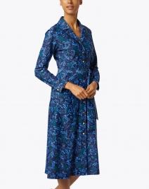 Jude Connally - Boden Jade and Navy Floral Print Shirt Dress