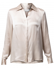 Walker Grey Hammered Silk Blouse