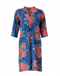 Radha Floral Cotton Short Tunic Dress
