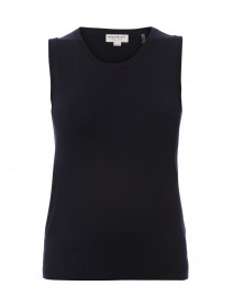 Navy Cotton Viscose Tank