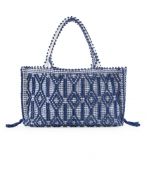 Camilla Navy Geo Woven Cotton Shoulder Bag