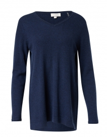 Navy Cashmere Swing Sweater