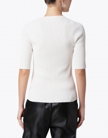 BOSS Hugo Boss - Finula Ivory Stretch Viscose Top