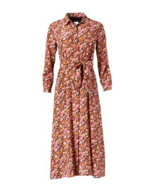 Miss Multi and Pink Floral Print Silk Dress