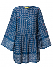 Regine Blue Starry Border Top
