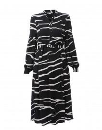 Black and White Zebra Printed Henley Dress