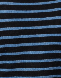 Blue - Black and Ocean Blue Striped Pima Cotton Sweater