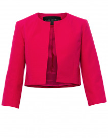 Fuchsia Ottoman Ribbed Cotton Jacket