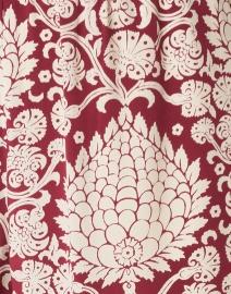 Weekend Max Mara - Eusebio Dark Red Leaf Print Silk Pant