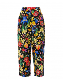 Charleston Multicolored Floral Silk Trousers
