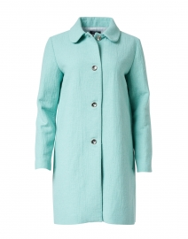 Turquoise Blended Cotton Overcoat