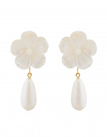 Mother of Pearl Flower Drop Earrings