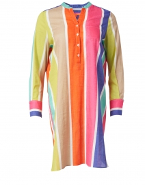Danett Multicolored Stripe Cotton Dress