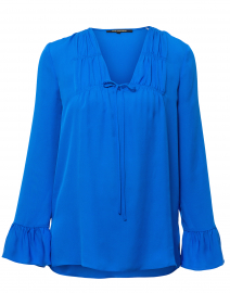 Mia Blue Silk Blouse