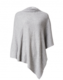 Grey Crystal Embellished Cashmere Poncho