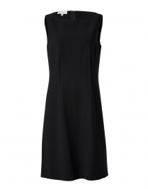 Cassie Black Wool Sheath Dress