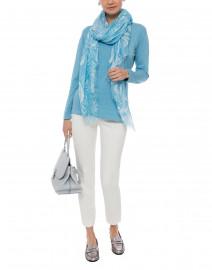 Blue - Blue Pima Cotton Sweater