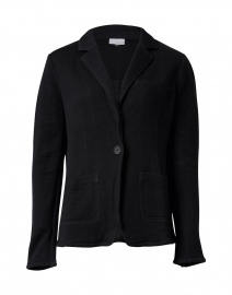 Everyday Black Cotton Tencel Blazer