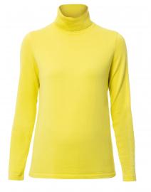 Citrine Yellow Cotton Turtleneck Sweater