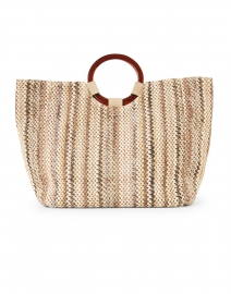Carlotta Beige Multi Woven Cotton Handbag