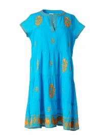 Pamela Blue and Orange Embroidered Dress