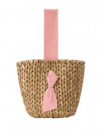 Petite Isla Bahia Pink Woven Bucket Bag