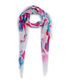 Sudden Pink and Blue Floral Modal and Silk Scarf