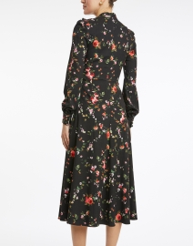 Goat - Kayla Black Floral Jersey Midi Dress