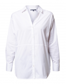 White Cotton Oversized Button Down Shirt
