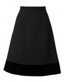 Mia Black Wool Crepe Skirt