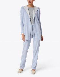 Kinross - Light Blue Thermal Trim Cotton Lounge Pant